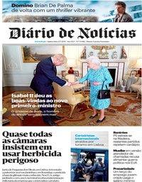 capa Diário de Notícias de 25 julho 2019