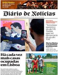 capa Diário de Notícias de 26 julho 2019