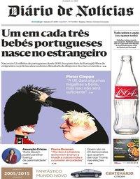 capa Diário de Notícias de 27 julho 2019