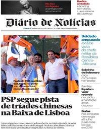capa Diário de Notícias de 29 julho 2019