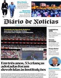 capa Diário de Notícias de 30 julho 2019