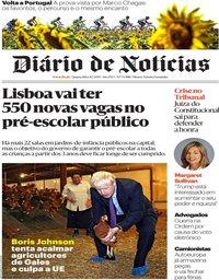 capa Diário de Notícias de 31 julho 2019