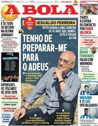 capa Jornal A Bola de 6 julho 2019