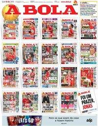 capa Jornal A Bola de 10 julho 2019
