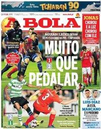 capa Jornal A Bola de 11 julho 2019