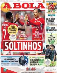 capa Jornal A Bola de 14 julho 2019
