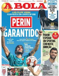 capa Jornal A Bola de 16 julho 2019