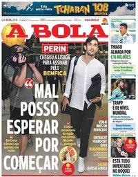 capa Jornal A Bola de 18 julho 2019
