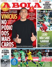 capa Jornal A Bola de 20 julho 2019