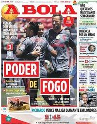 capa Jornal A Bola de 21 julho 2019