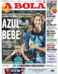 capa Jornal A Bola de 22 julho 2019
