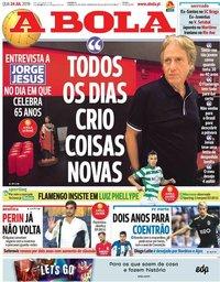 capa Jornal A Bola de 24 julho 2019