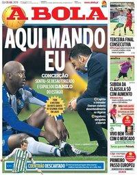 capa Jornal A Bola de 25 julho 2019