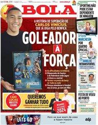capa Jornal A Bola de 31 julho 2019
