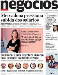capa Jornal de Negócios de 2 julho 2019