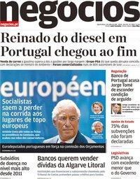 capa Jornal de Negócios de 3 julho 2019