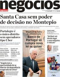 capa Jornal de Negócios de 9 julho 2019