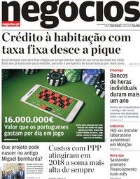 capa Jornal de Negócios de 10 julho 2019