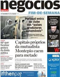 capa Jornal de Negócios de 12 julho 2019