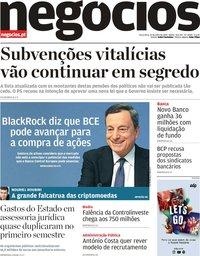 capa Jornal de Negócios de 23 julho 2019