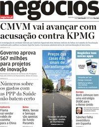 capa Jornal de Negócios de 24 julho 2019