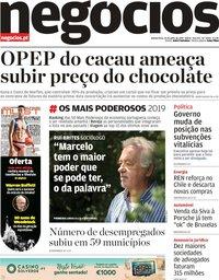 capa Jornal de Negócios de 25 julho 2019