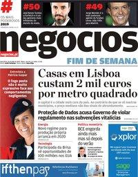 capa Jornal de Negócios de 26 julho 2019