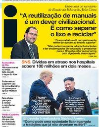 capa Jornal i de 1 julho 2019