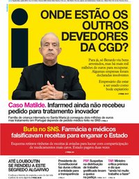 capa Jornal i de 3 julho 2019
