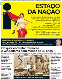 capa Jornal i de 10 julho 2019