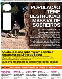 capa Jornal i de 15 julho 2019