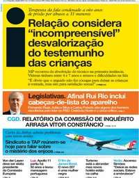 capa Jornal i de 16 julho 2019