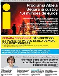 capa Jornal i de 29 julho 2019