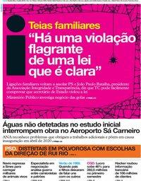 capa Jornal i de 31 julho 2019