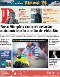capa Público de 5 julho 2019