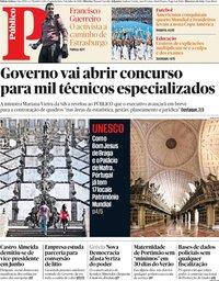 capa Público de 8 julho 2019