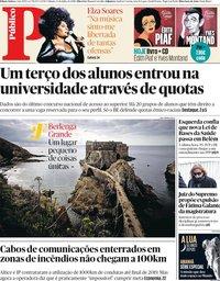 capa Público de 13 julho 2019