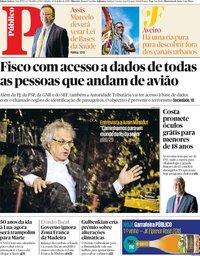 capa Público de 20 julho 2019