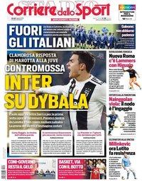 capa Corriere dello Sport de 1 agosto 2019
