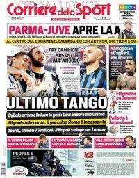 capa Corriere dello Sport de 2 agosto 2019