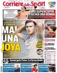 capa Corriere dello Sport de 3 agosto 2019