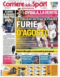 capa Corriere dello Sport de 4 agosto 2019