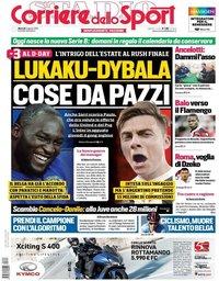 capa Corriere dello Sport de 6 agosto 2019