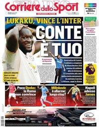 capa Corriere dello Sport de 8 agosto 2019