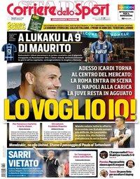 capa Corriere dello Sport de 9 agosto 2019