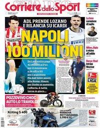 capa Corriere dello Sport de 13 agosto 2019