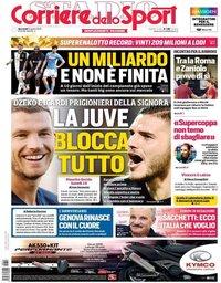 capa Corriere dello Sport de 14 agosto 2019