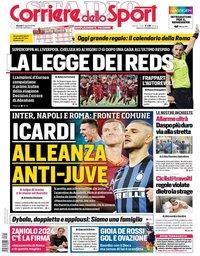 capa Corriere dello Sport de 15 agosto 2019