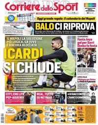 capa Corriere dello Sport de 18 agosto 2019