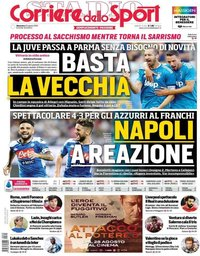 capa Corriere dello Sport de 25 agosto 2019